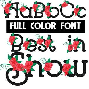 best in show color font