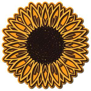 layered sunflower
