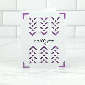 a2 insert card tuck fold i miss you