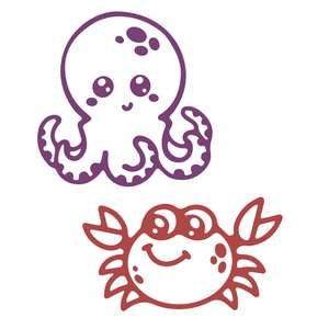 underwater animals - octopus and crab