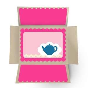 a2 double fold out card - teapot