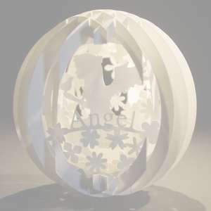 four layered pop up sphere angel