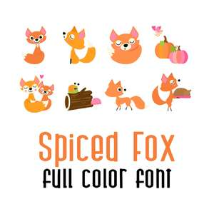 spiced fox full color font