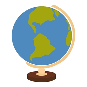 globe / map of the world