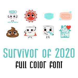 survivor of 2020 full color font