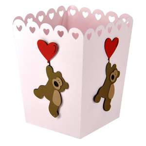 teddy balloon popcorn treat box
