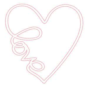 love heart stitching