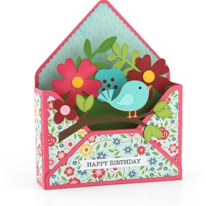 box card envelope bird