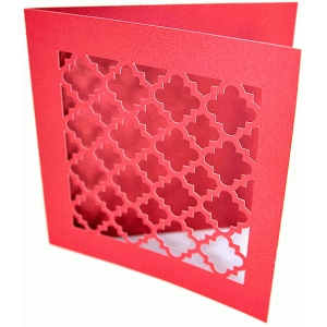 quatrefoil greeting card