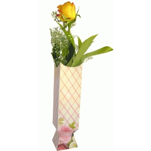 tall paper vase