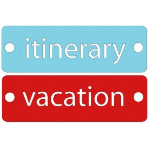itinerary and vacation tags