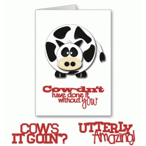 punny cow card