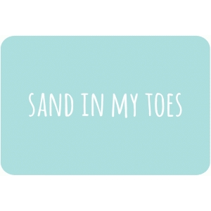 sand in my toes 4 x 6 journaling card