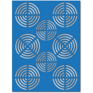 crossed circles mat/layer/stencil