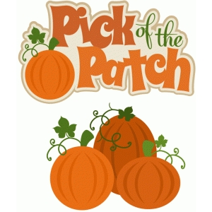 pick of the patch title/phrase with pumpkins