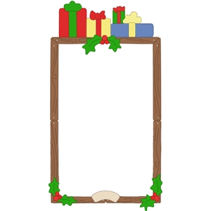 holly jolly frame