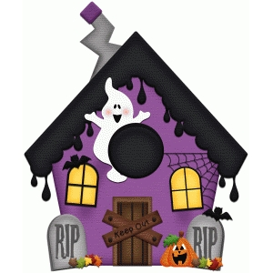 haunted house halloween print & cut