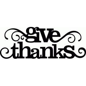 'give thanks' flourish phrase