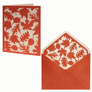 card envelope set falling leaves