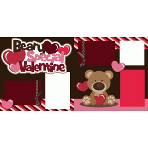 beary special valentine 2 page scrapbook kit