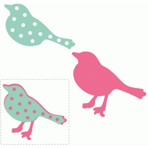 polkadot layered bird embellishment