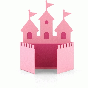 a2 princess castle shaped card