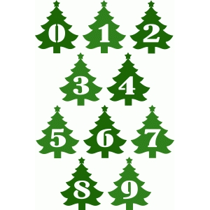 christmas tree numbers