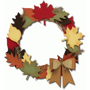 3d fall wreath