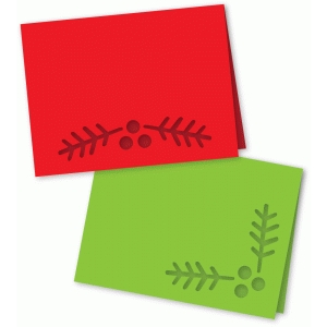 pine berry folded cards a2