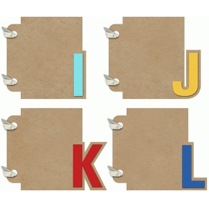 3x4 mini album ijkl set
