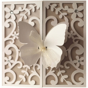 5x5 butterfly flourish gate fold card
