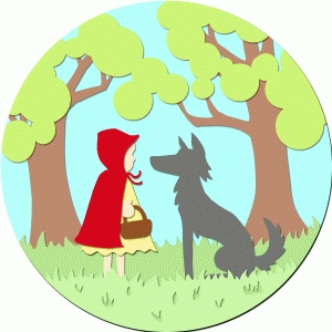red riding hood vignette