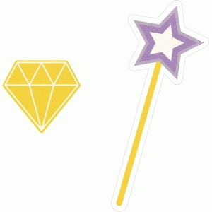 diamond and wand