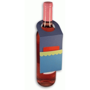 bottle tag with gift card holder