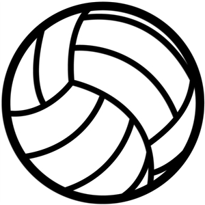 volleyball outline
