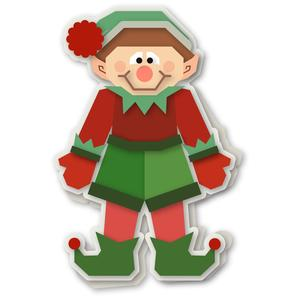 elf shaped a7 card