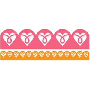 scalloped loopy hearts border