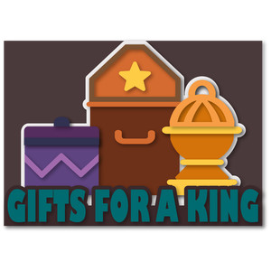 gifts for a king a7 tri-fold card