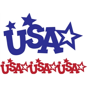 usa stars border and image