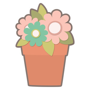 blooming flower pot