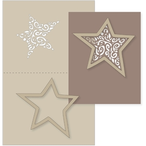 swirly star card