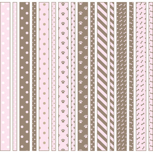 pink is for girl dog washi tape