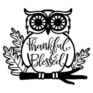 thankful and blessed owl