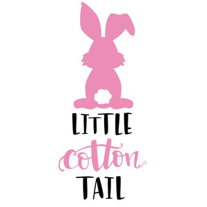 little cotton tail easter phrase