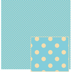 blue and cream polka dot pattern