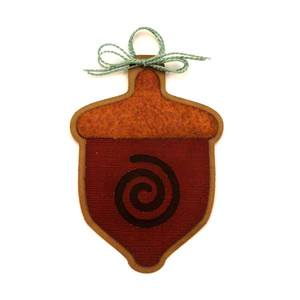 acorn swirl ornament for tree