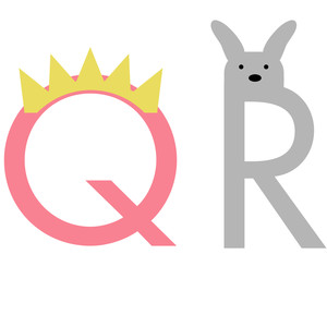 alphabet learning craft - q and r