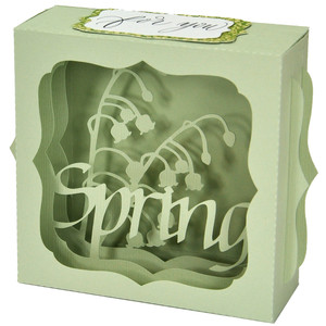 spring flower gift card box