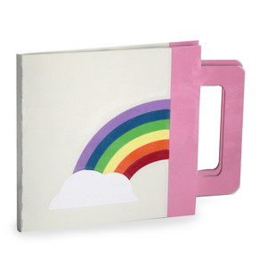 quiet book cover and base - rainbow