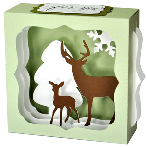 christmas deer gift card box